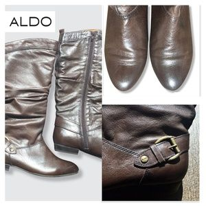 LIKE NEW ALDO Brown slouch boots   Size 7